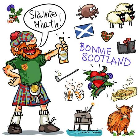 Slainte cartoon