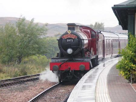 Hogwarts Express in Rannoch at the end of Filming Harry Potter